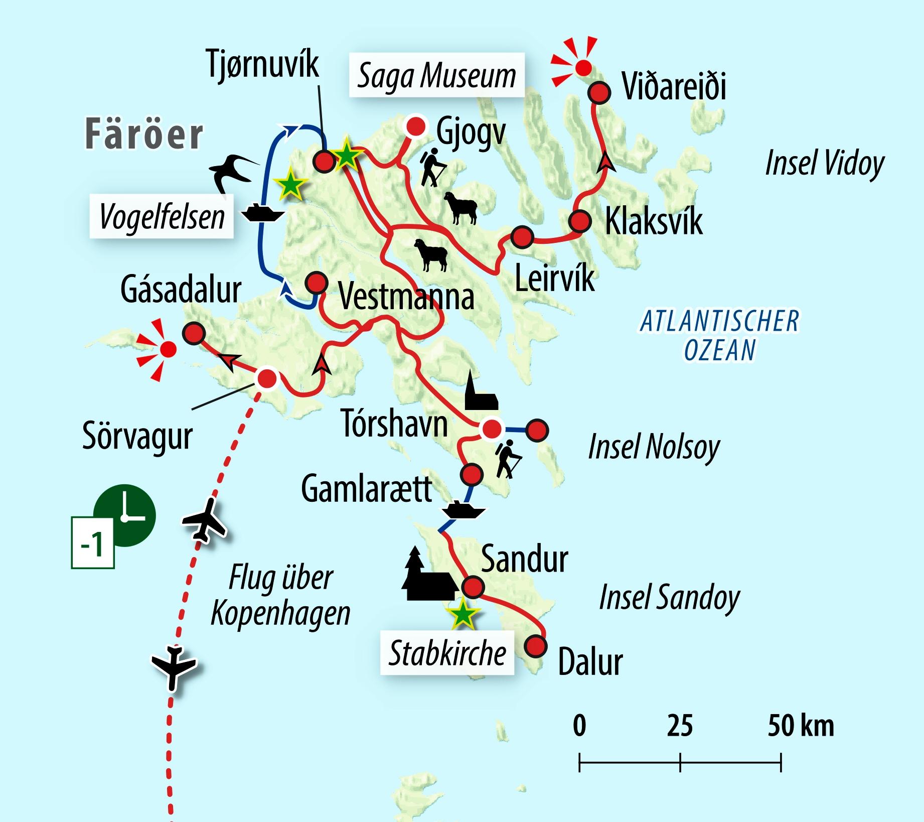 Färöer Inseln Karte.Färöer Dänemarks Unbekannte Schafsinseln