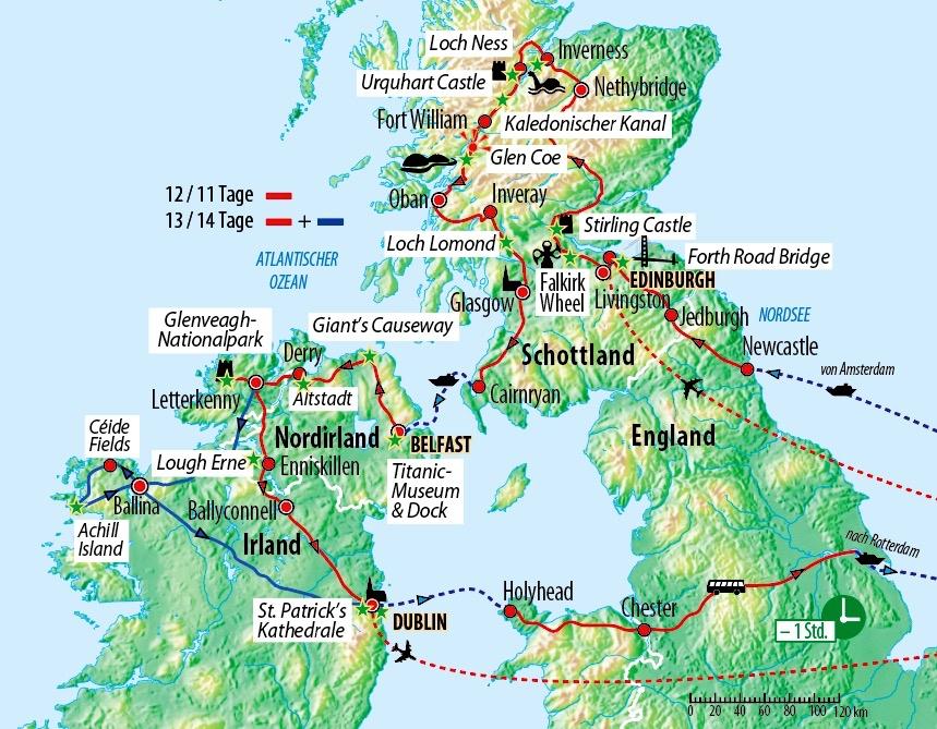 Rundreise Kombination Schottland Nordirland Und Irland