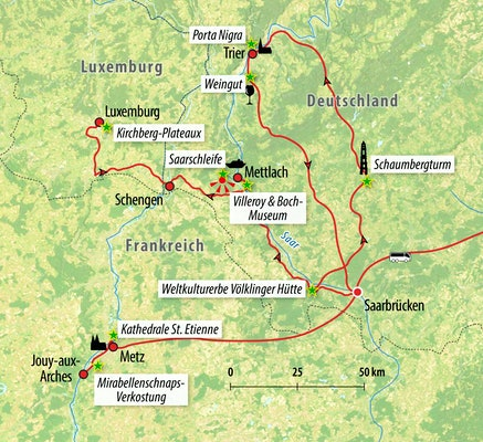 Ihre Rundreise-Route