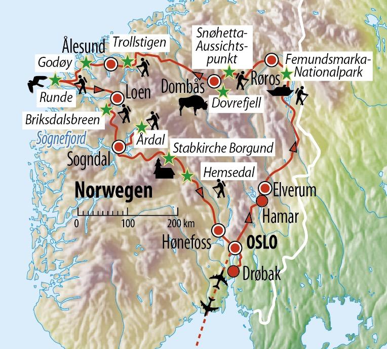 rundreise norwegen wandern im land der fjorde fjelle. Black Bedroom Furniture Sets. Home Design Ideas