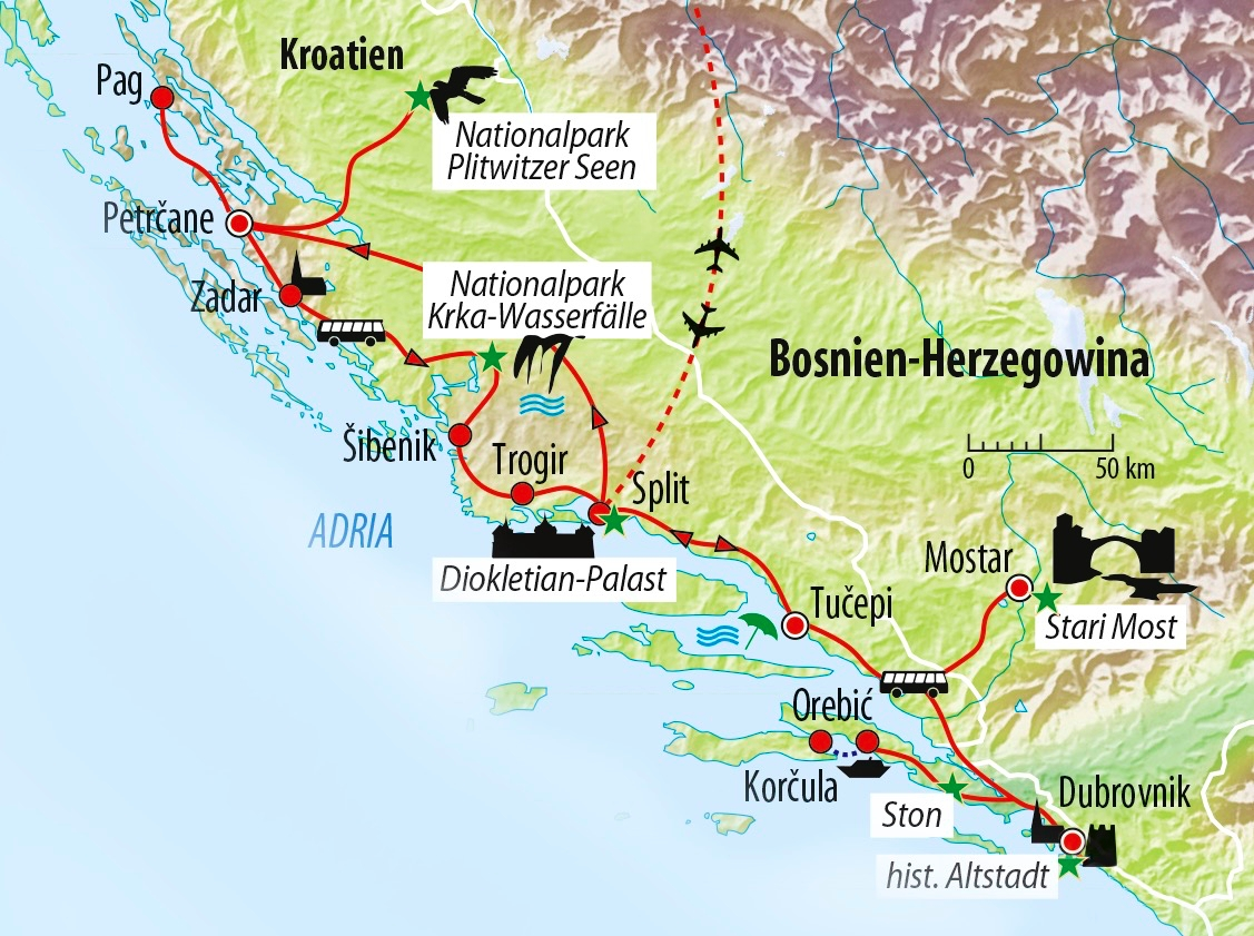 Rundreise Kroatien