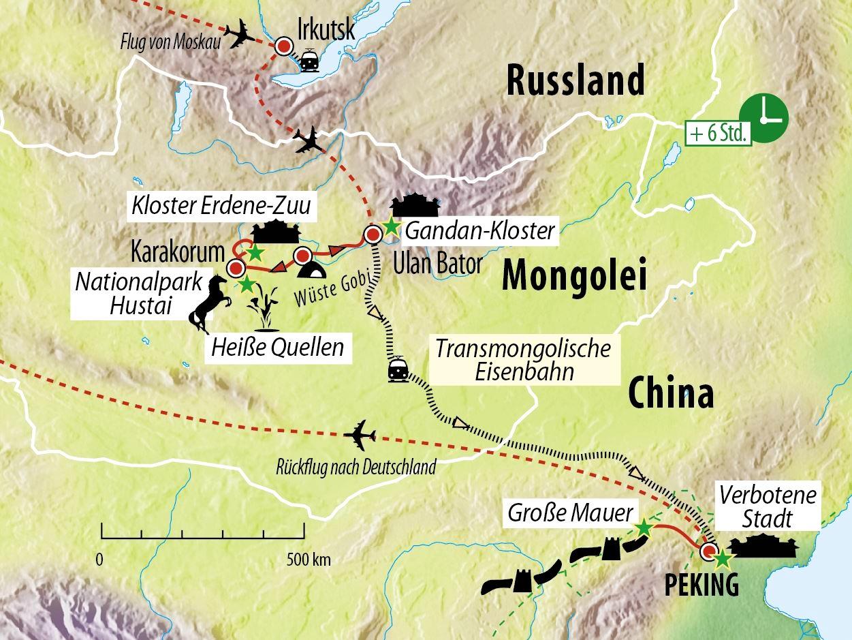 Große Rundreise Höhepunkte Russland - Sibirien - Mongolei - China ...