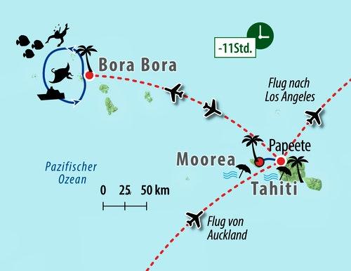 Ihre Reiseroute - Französisch-Polynesien