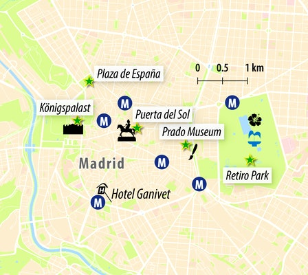 Stadtkarte Madrid