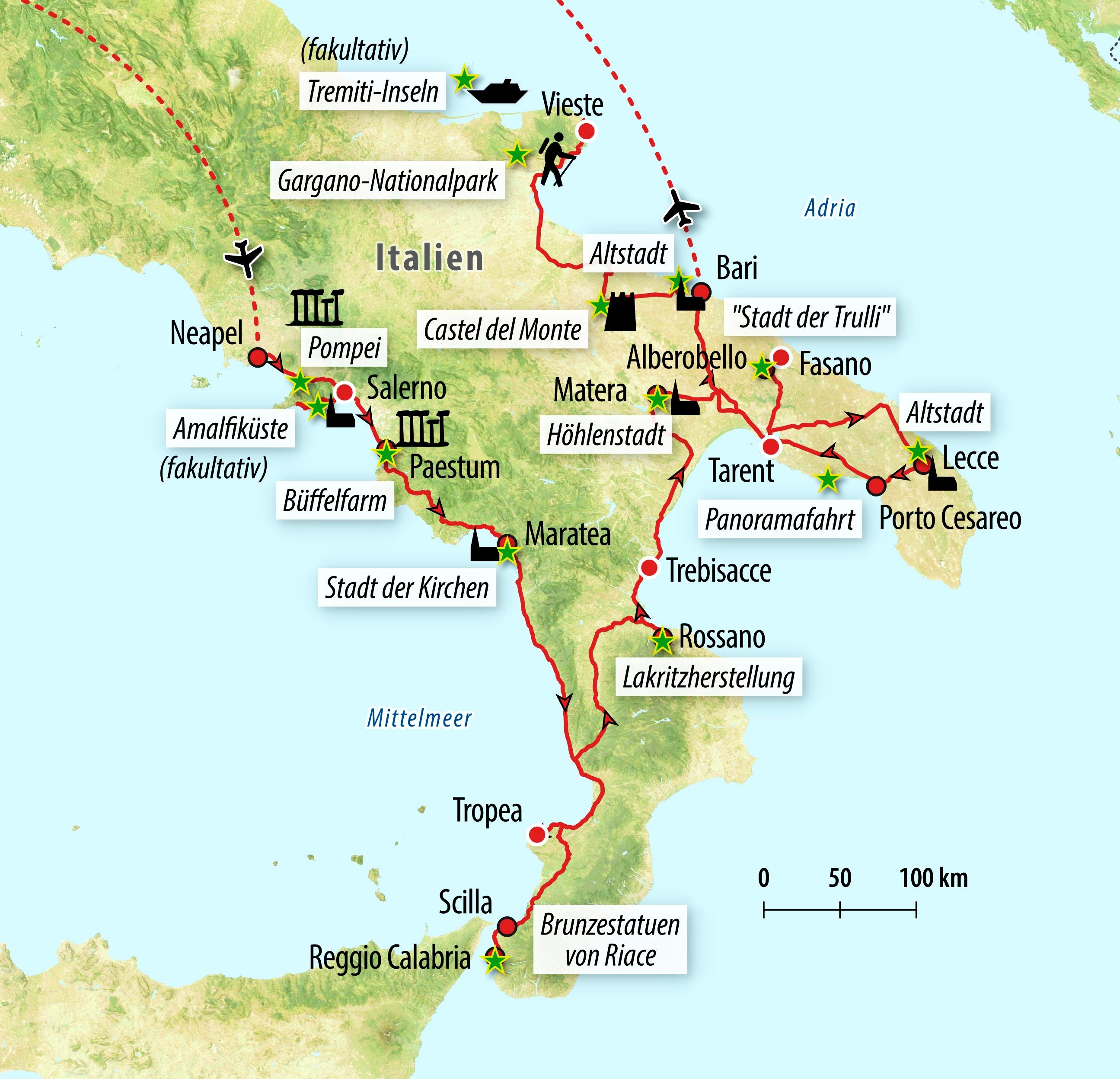 Sd Karte Besch303244digt Huawei.Italien Karte Apulien Kalabrien