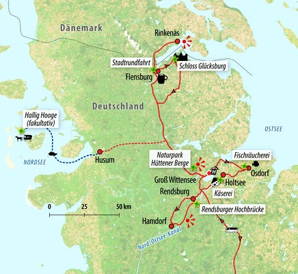 Ihre Reiseroute an Nord- und Ostsee