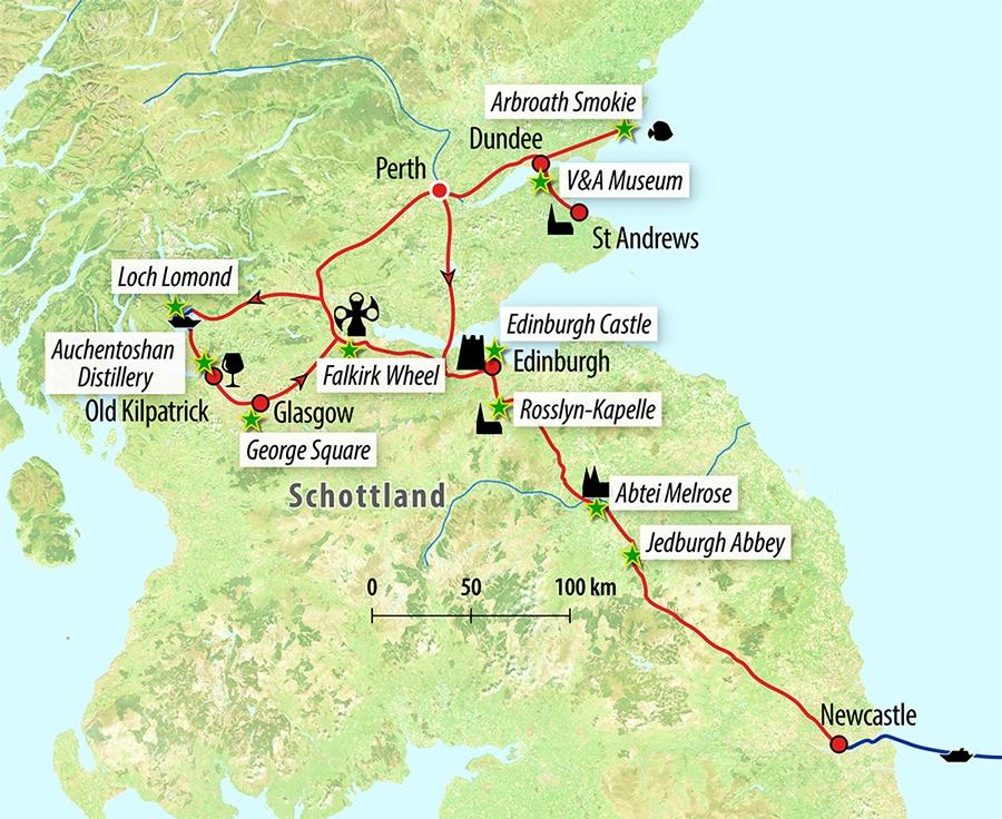 Singlereise Schottland