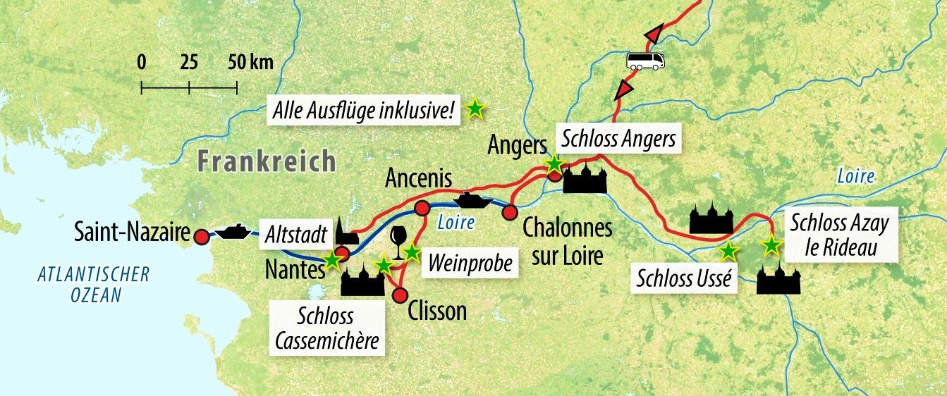 Flusskreuzfahrt Loire 2021