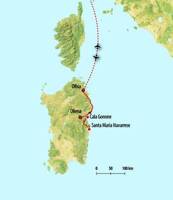 Ihre Reiseroute nach Sizilien