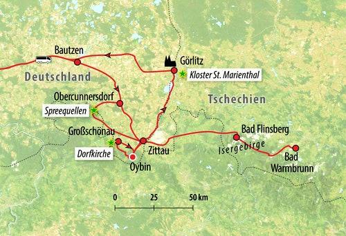 Ihre Rundreise-Route in Deutschland
