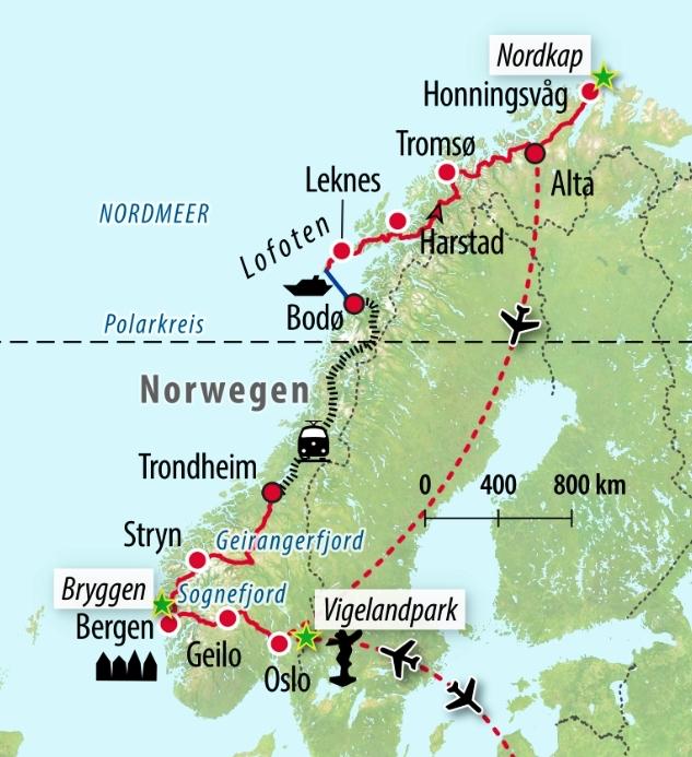 Rundreise Norwegen Mit Nordkap Lofoten Fjorden Saison 2020