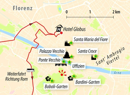 Stadtkarte Florenz