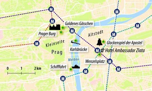 Stadtkarte Prag
