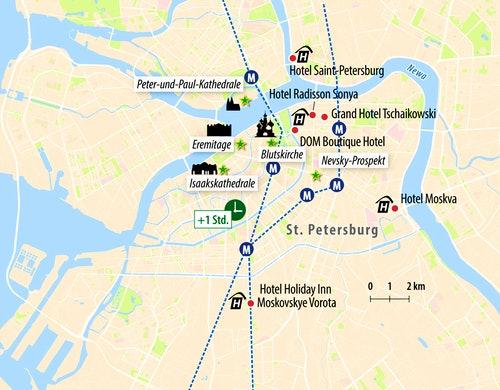 Stadtkarte St. Petersburg