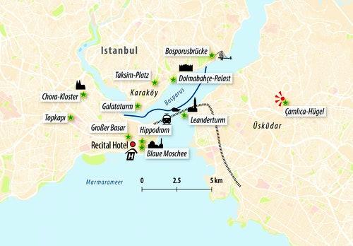 Stadtkarte von Istanbul
