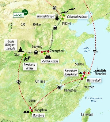 Ihre Reisroute in China